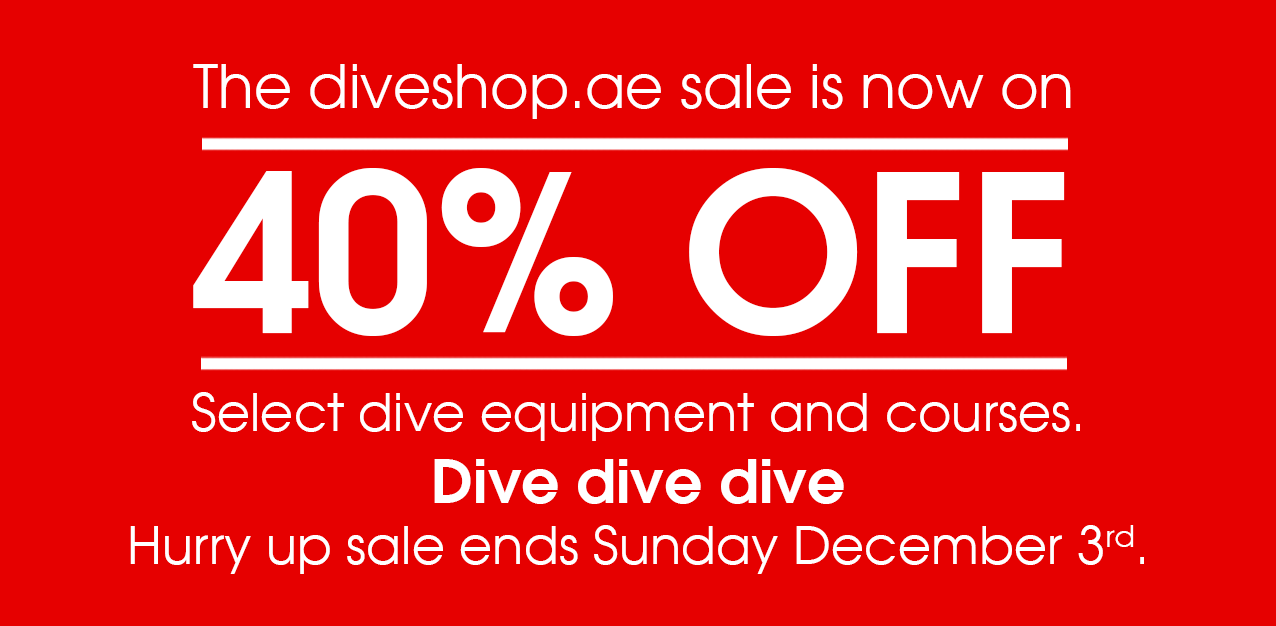 Enjoy the massive 30% and up discount from diveshop.ae