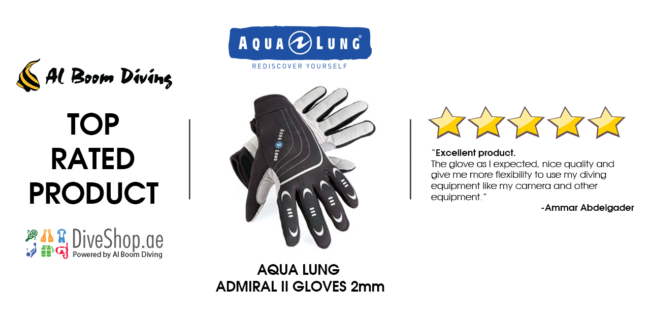 Aqua Lung Aqua Lung ADMIRAL II Gloves 2mm from diveshop.ae